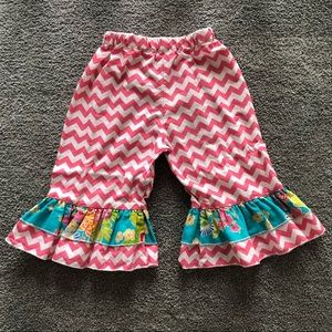 Lolly Wolly Doodle Ruffle Capris 3T